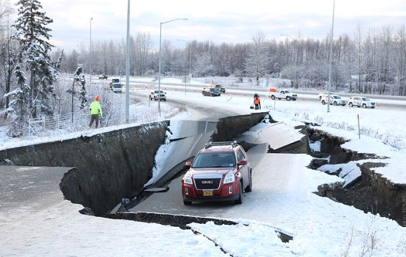 Earthquake in Alaska. The Governor declared a state of emergency
