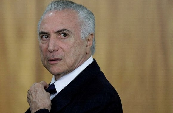 The President of Brazil is awaiting trial at the end of his term