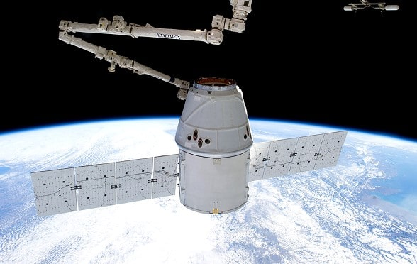 In the US, the Falcon 9 rocket with a cargo ship Dragon launched to the ISS
