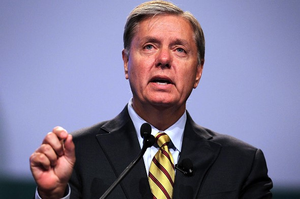 Lindsay Graham said he would try to convince Trump to leave part of the troops in Syria