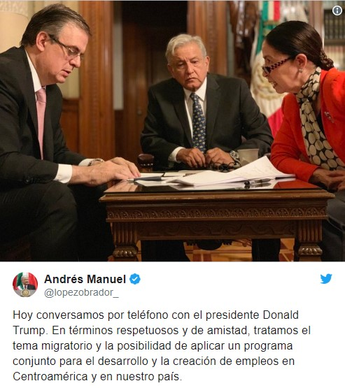 The Presidents of the USA and Mexico discussed the problem of migration