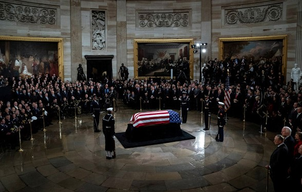 In the US said goodbye to George Bush senior