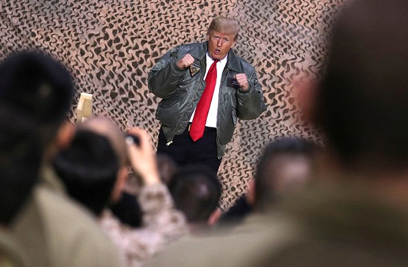 """""""We're not suckers anymore, guys."""" What trump wanted to say with his visit to Iraq."""