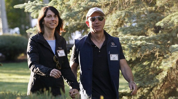 Trump wished good luck to divorcing his wife the head of Amazon