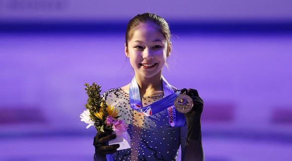 At the US figure skating championship won 13-year-old girl