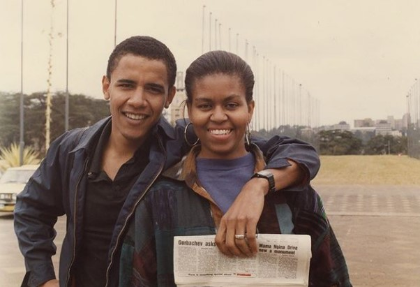 Barack Obama congratulated Michelle on her 55th birthday, showing a cute photo from the family archive