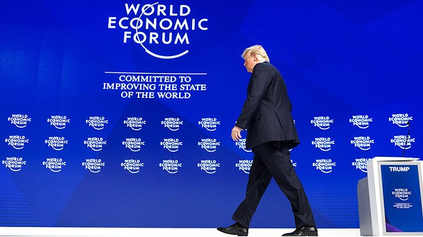 Non-travel shutdown: Trump has canceled the visit of the American delegation at the forum in Davos