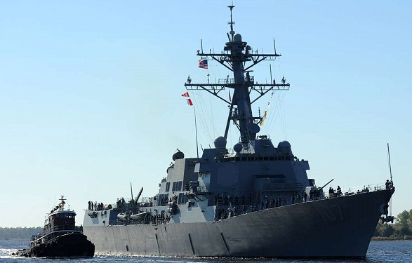 The Baltic fleet was organized tracking the US destroyer Gravely in the Baltic sea