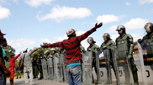 The US said that the use of force on the border of Venezuela will not go unpunished