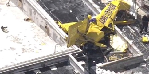 A small plane crashed into a multi-story building in Florida