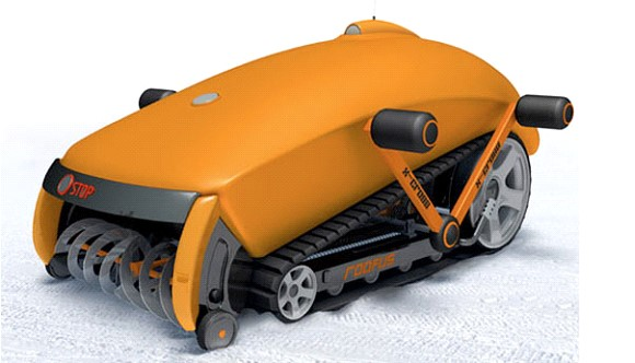 In the US a robot for snow removal was created