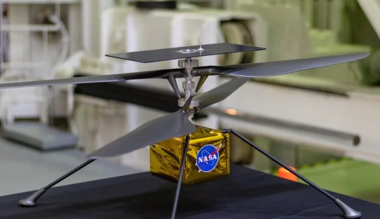 NASA successfully tested a Martian helicopter in a carbon dioxide chamber