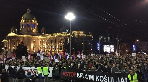 Serbia is protesting against the Presidents policy. Authorities promise to punish demonstrators