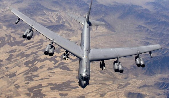 The United States transferred to Europe six strategic bombers B-52