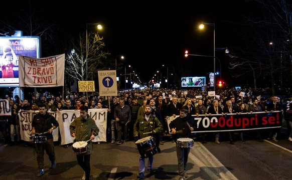 Thousands of people protested against the President in Montenegro