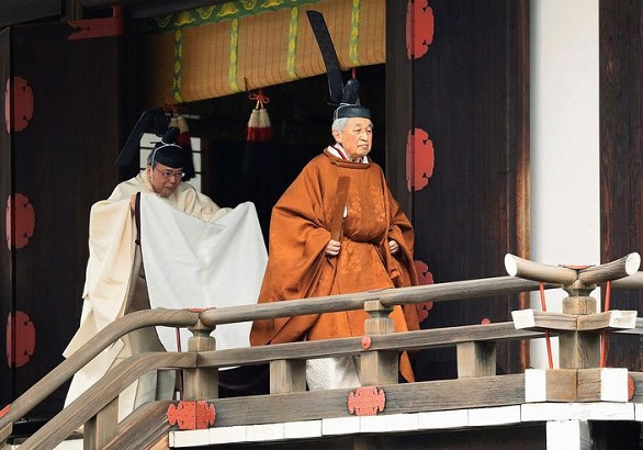 The Emperor of Japan abdicates the throne. For the first time in 200 years