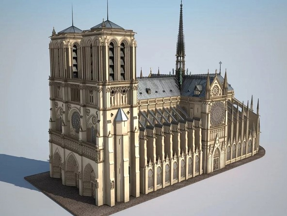 The Professor from the United States managed to make 3D model of Notre Dame