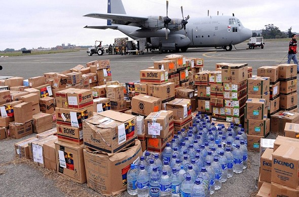 The US has placed humanitarian aid for Venezuela on the island Curacao