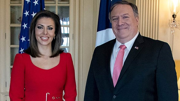 The new press Secretary of the US state Department was Morgan Ortagus
