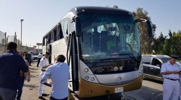 In Egypt, a bomb exploded near a tourist bus