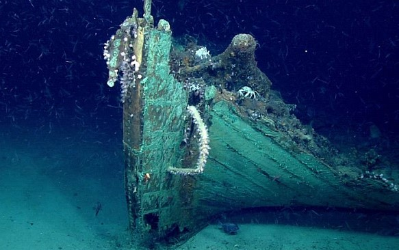 Oceanographers from the United States found at the bottom of the Gulf of Mexico the skeleton of a sunken ship of the XIX century