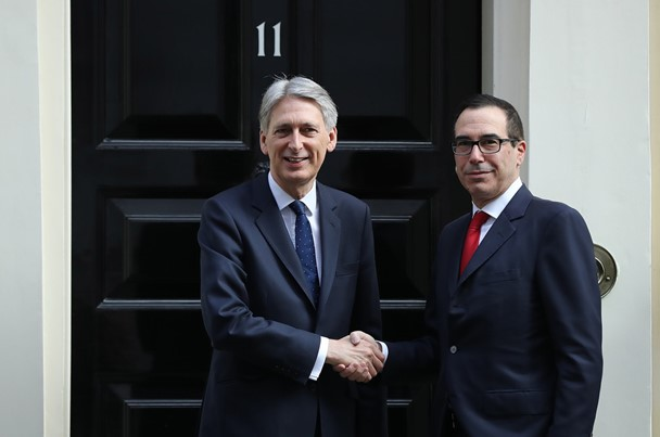"In London, the Finance Ministers of the US and the UK have discussed sanctions and ""Brexit"""