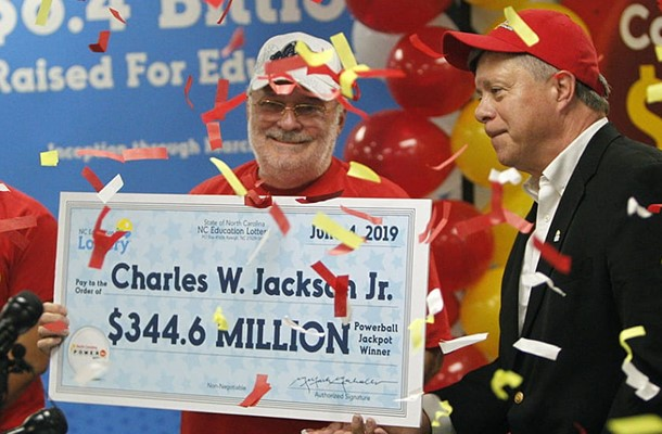 The American won the lottery $345 million