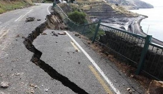 In California, there was the second powerful earthquake in a week