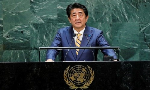 Abe called for change within the UN