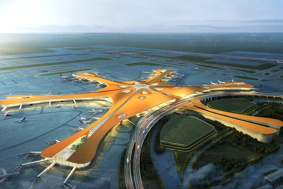 In Beijing opened a huge airport in the shape of a starfish