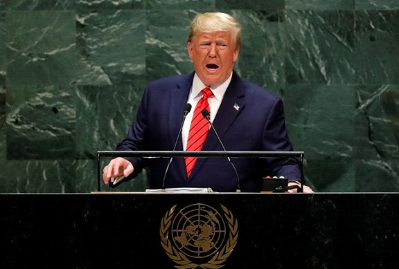 Trump's speech at the opening of the UN General Assembly