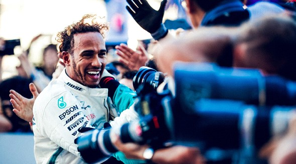 "Hamilton was the winner of the Mexican Grand Prix ""Formula -1."""