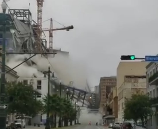 In New Orleans, a hotel under construction collapsed