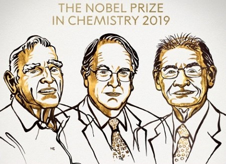 Nobel Prize in chemistry awarded for lithium-ion batteries