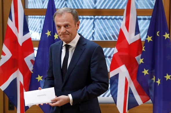 Tusk said he would make a decision on the UK's request in the coming days