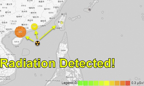 Chinese nuclear submarine tore into the sea