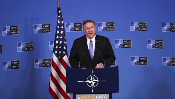 "Pompeo confirmed the ""robust leadership"" of the US in NATO"