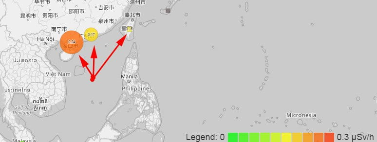 The Chinese government has not confirmed the information about the explosion in the South China sea