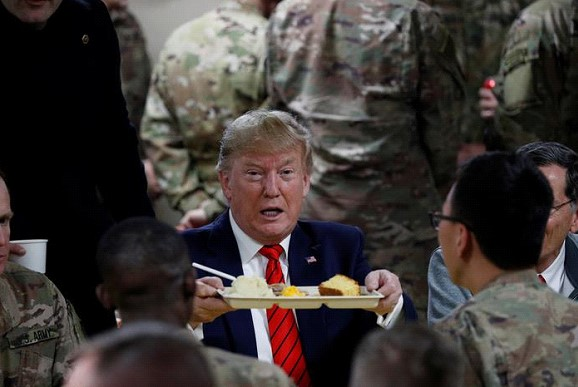Trump an unannounced visit to Afghanistan