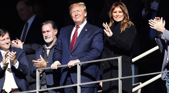 Trump received an ovation at a football game in Alabama