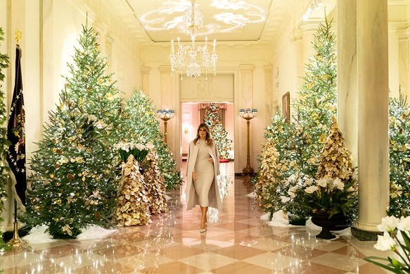 Melania Trump showed how to decorate the White House for Christmas