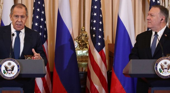 Mike Pompeo and Sergey Lavrov hold a joint press conference in Washington