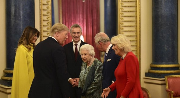 The US President met with Queen Elizabeth