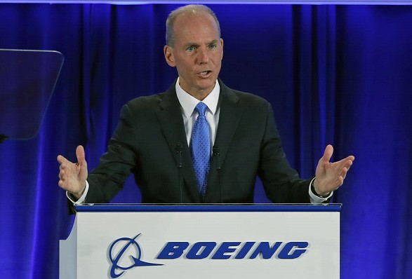 The head of Boeing resigned
