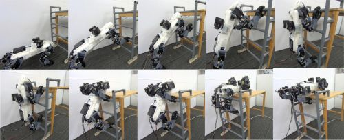 Robot overcomes an obstacle