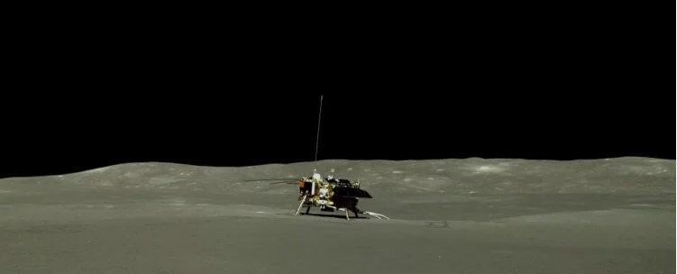 Chinese lunar rover transmitted new photos of the far side of the moon