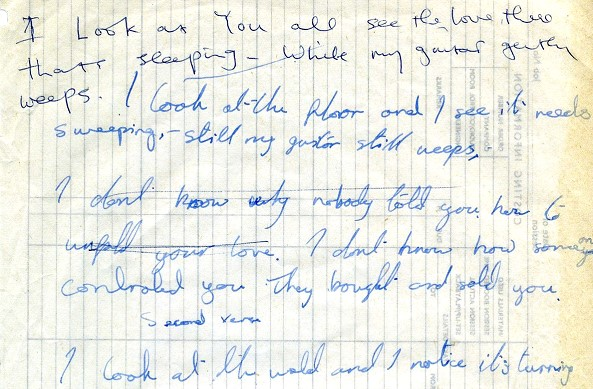 The Beatles ' song manuscript will be sold at auction