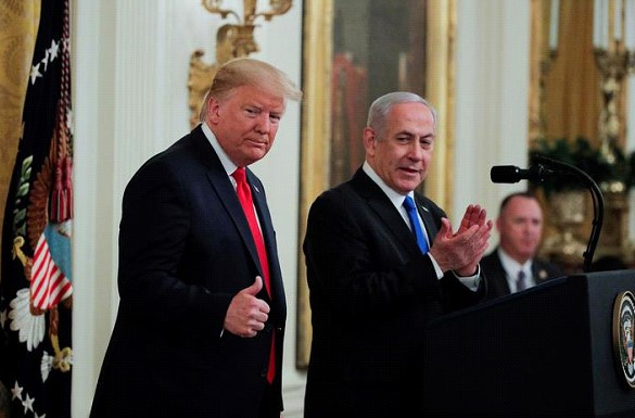 Trump presented a plan to resolve the Middle East conflict