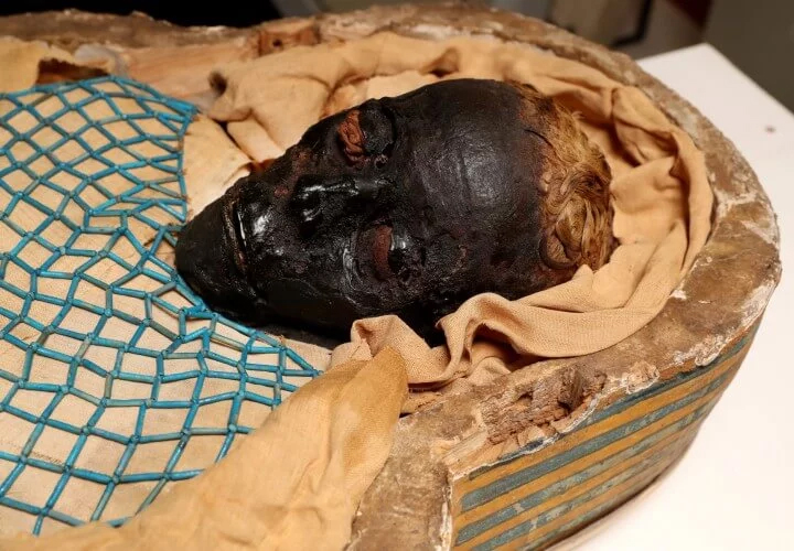 Thanks to embalming, the body of the Egyptian was well preserved