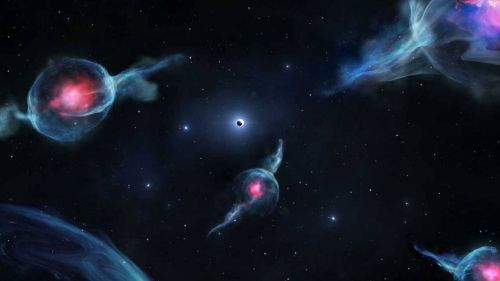 Unusual space objects of a completely new class discovered in the black hole region of our galaxy